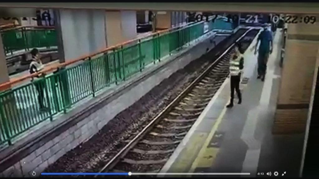 元朗輕鐵女工遭推落路軌 非華裔男被捕