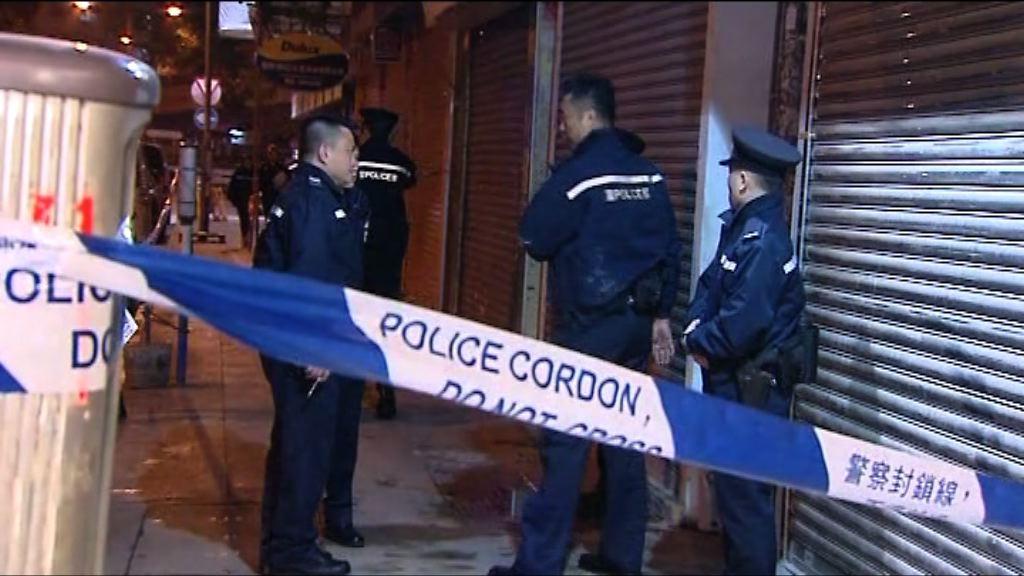 旺角唐樓謀殺案 大批警員到場調查