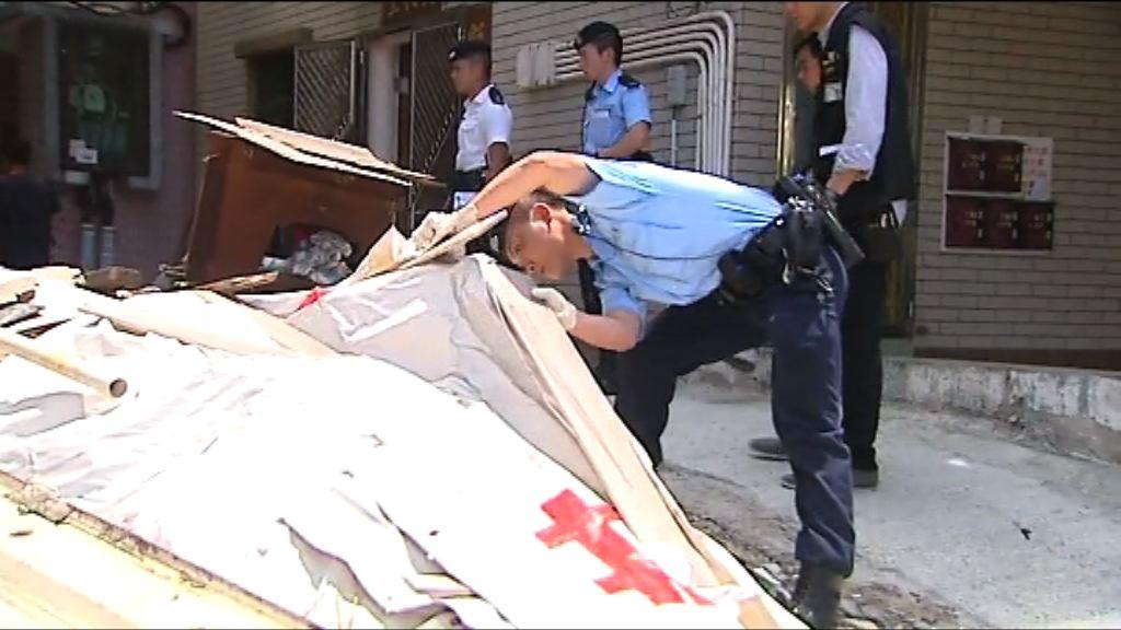 田心村謀殺案 警方派逾百人搜證