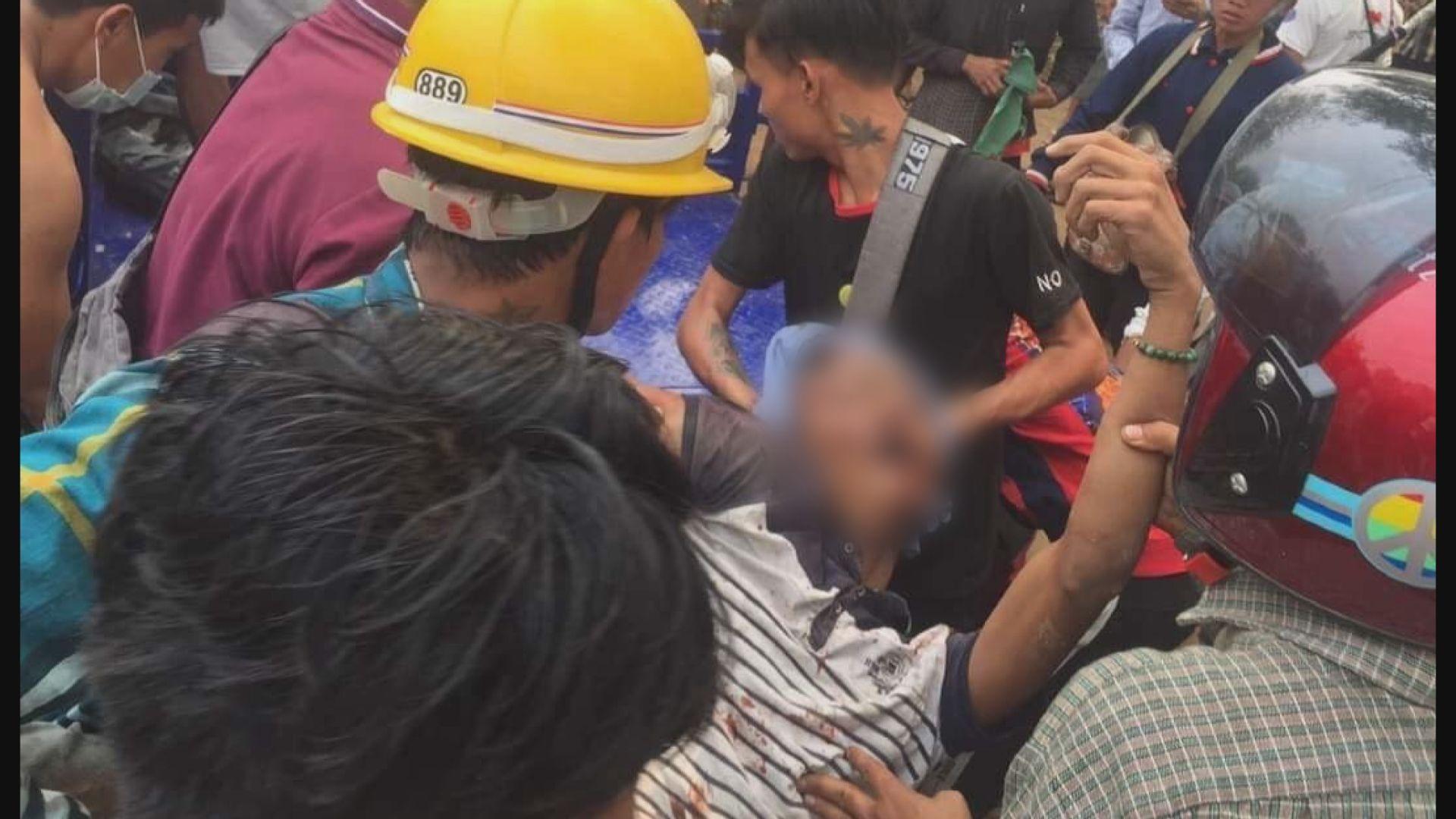 緬甸蒙育瓦市有示威者中槍身亡 四人受傷