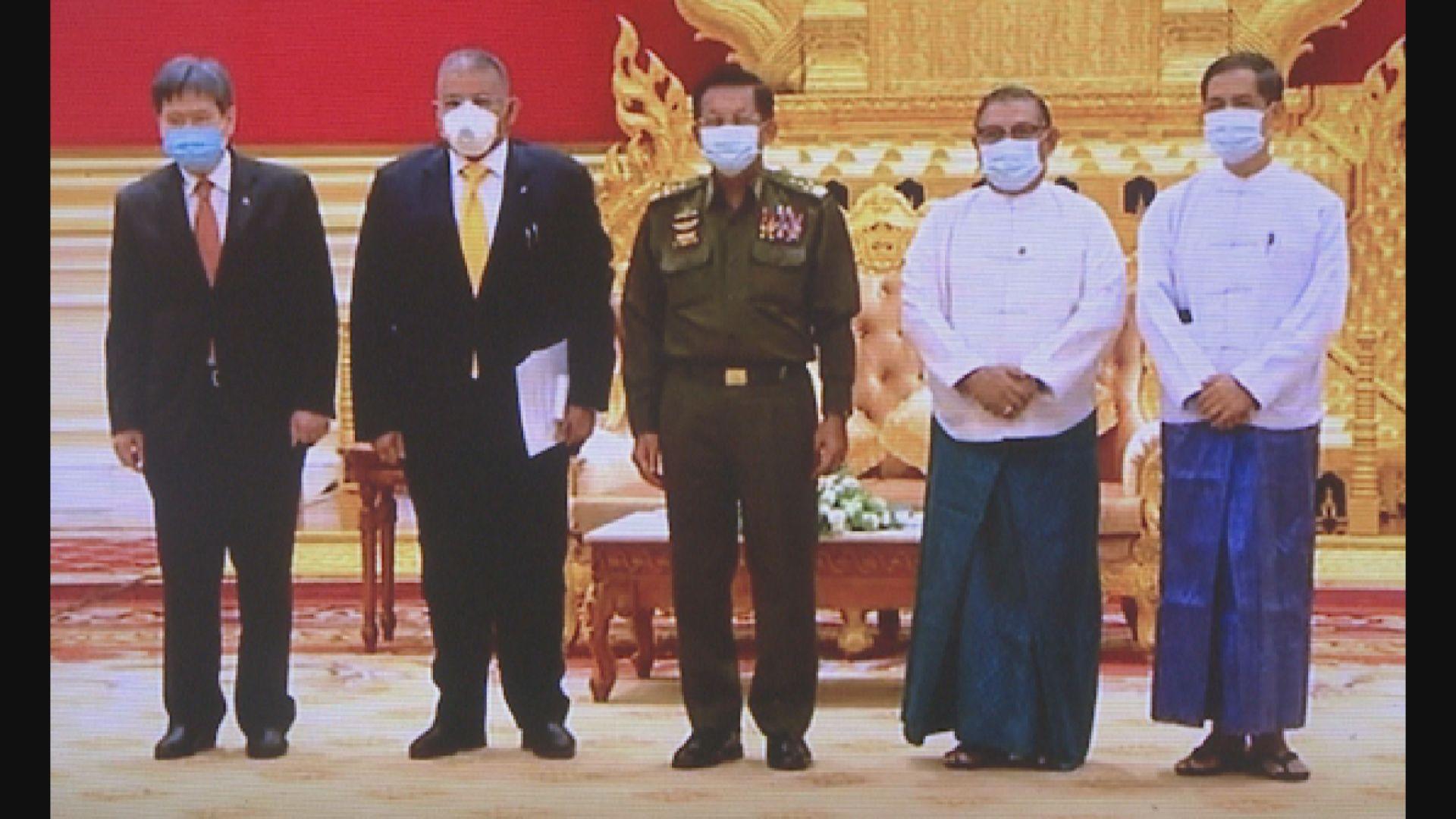 緬甸國防軍總司令接見東盟官員 承諾會再舉行大選