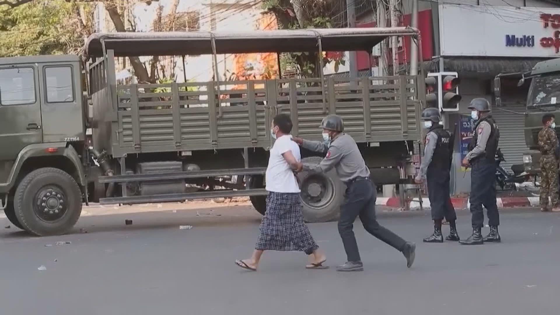 緬甸示威至少四百人被捕 聯合國:軍方做法猶向人民宣戰
