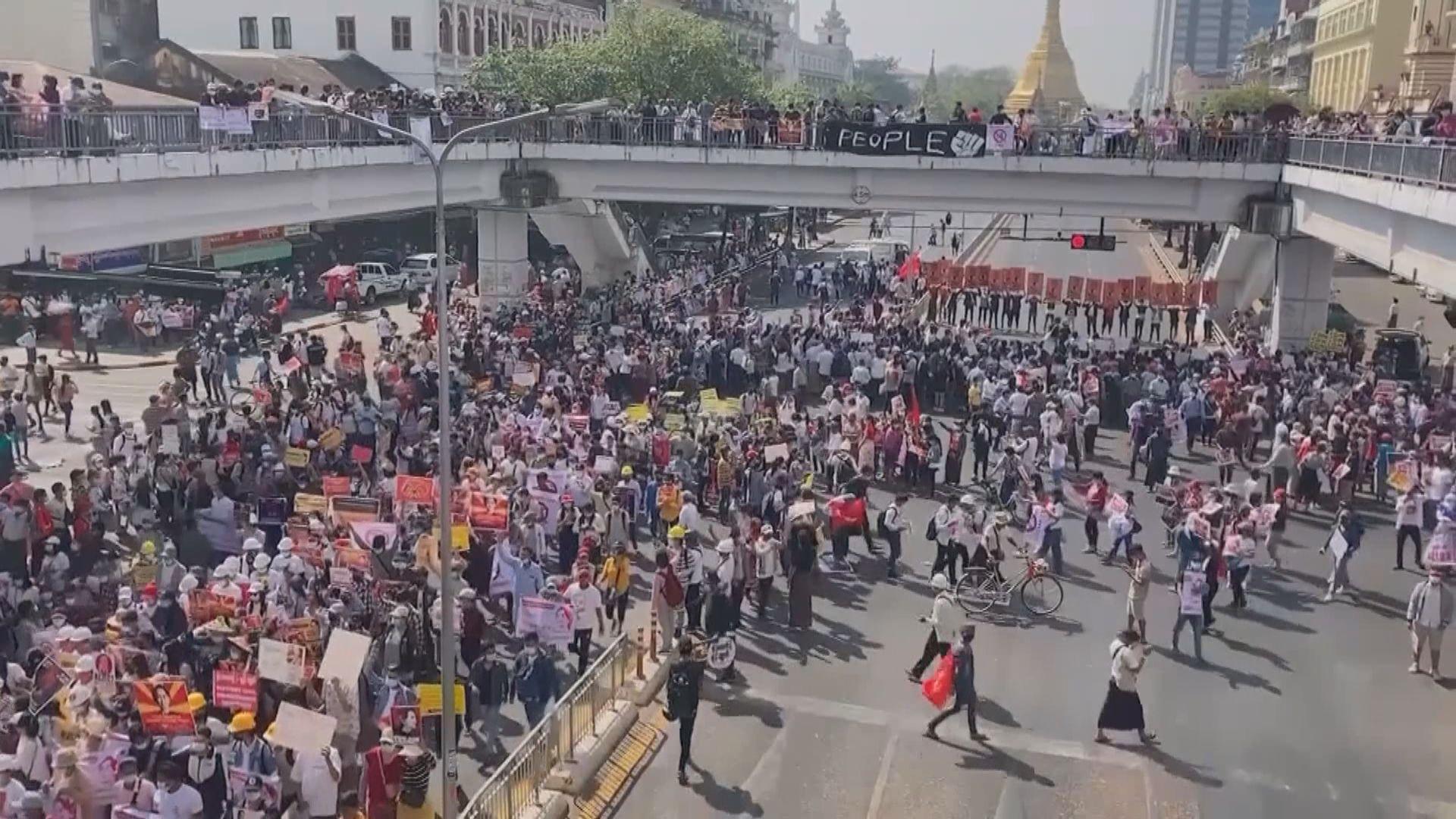 美聯社:緬甸今日示威人數為軍事政變以來最多