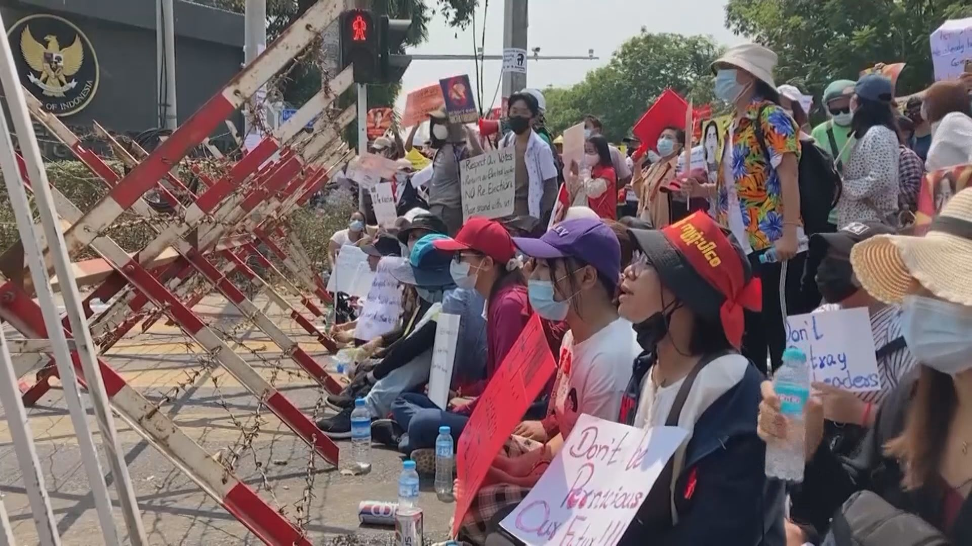 緬甸示威持續 國防軍總司令稱至今僅四人死不算嚴重