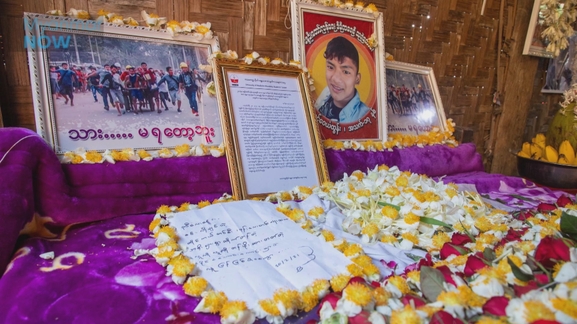 據報緬甸上周三人被軍警射殺 大批民眾悼念死者