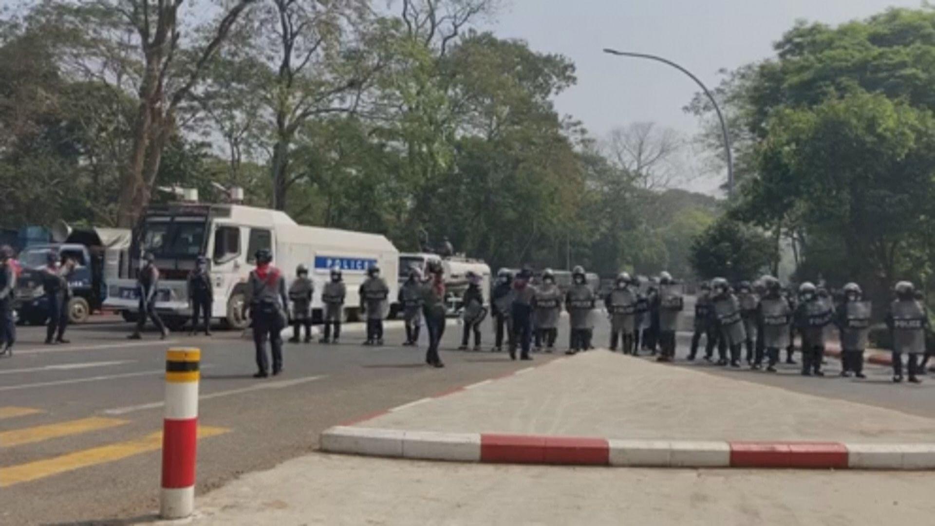 緬甸多地持續有示威反對軍事政變