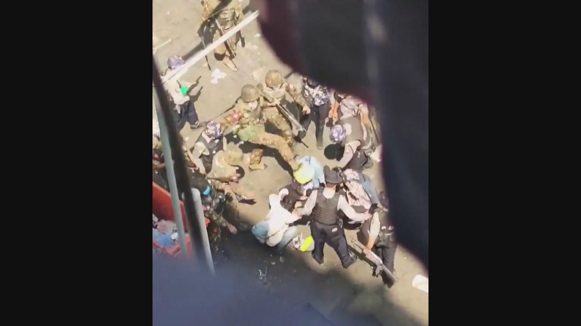 緬甸示威持續 報道指有安全部隊用實彈鎮壓示威
