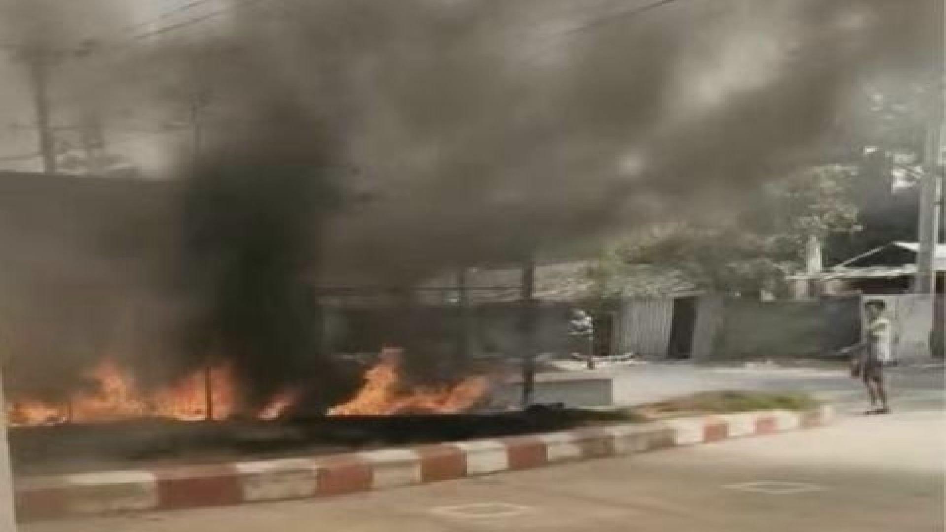 緬甸工業區多間中資服裝廠遭縱火 多名中方人員受傷