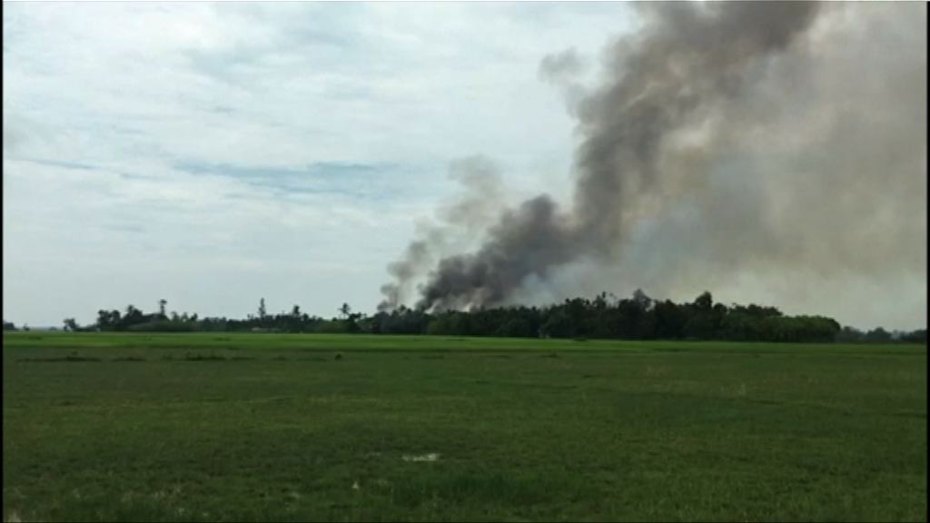 緬甸若開邦持續有房屋被焚燒