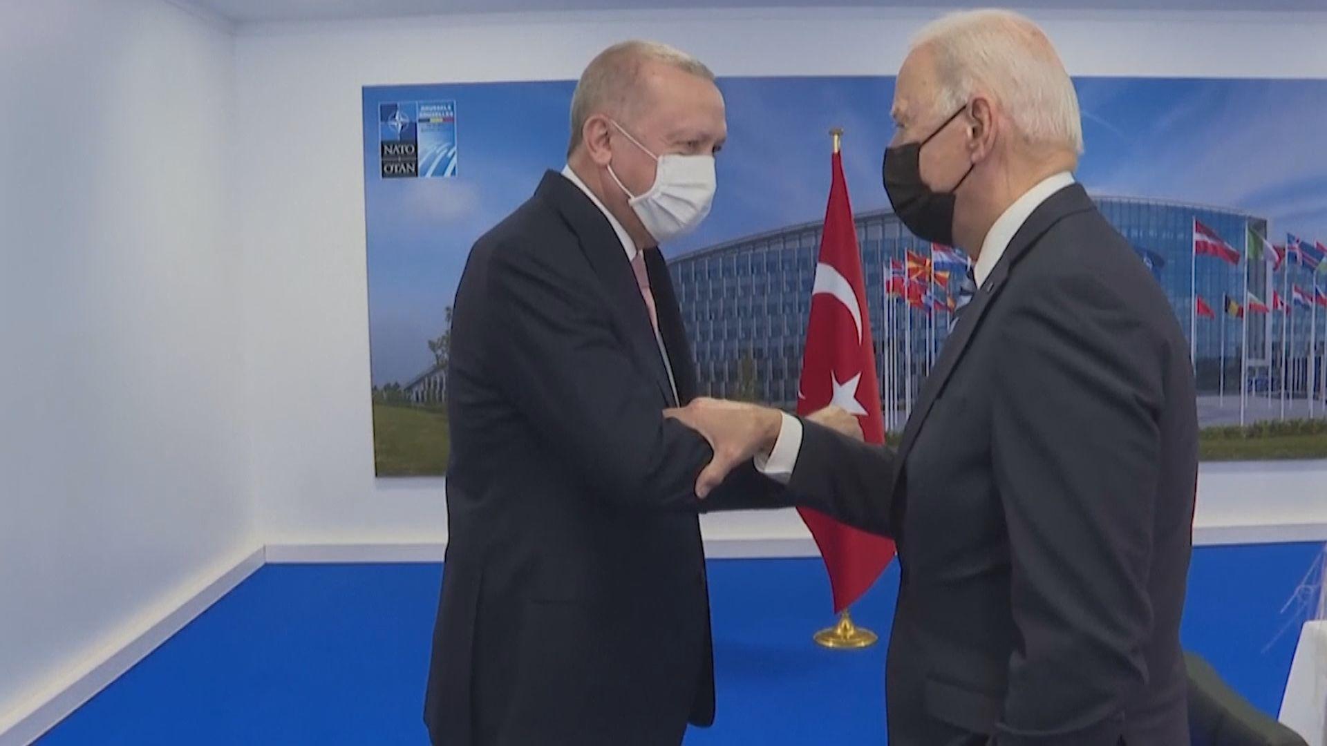 拜登與土耳其總統埃爾多安會面 兩國關係未見大突破