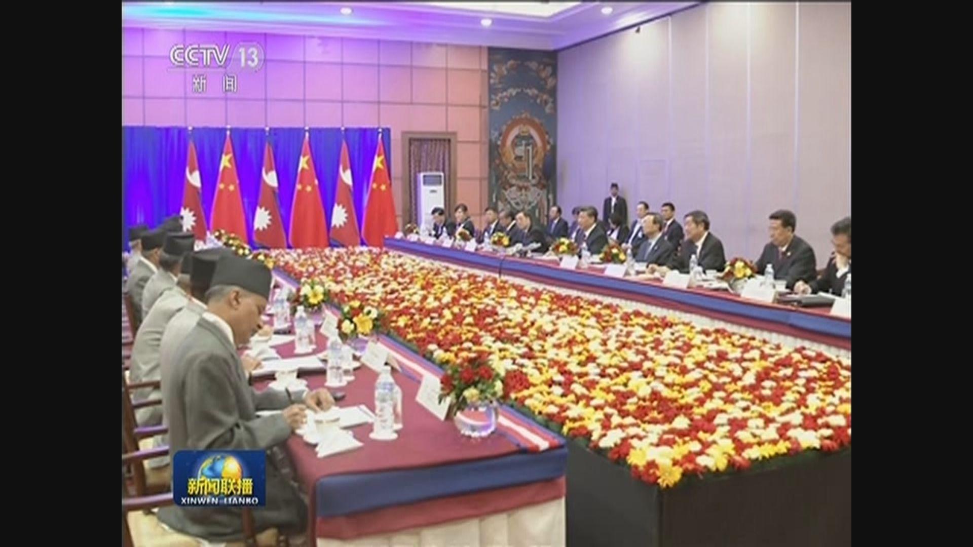 中國及尼泊爾簽署多項協議及諒解備忘錄