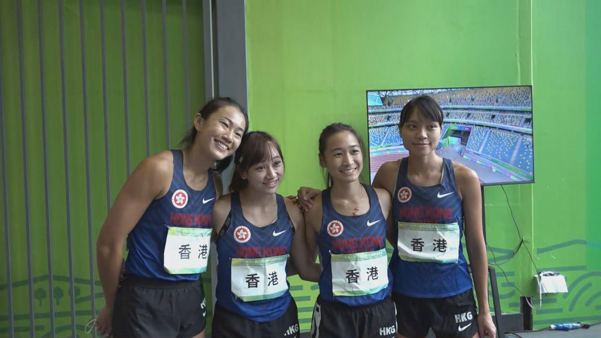 全運會田徑項目 女子4X100米接力港隊預賽止步