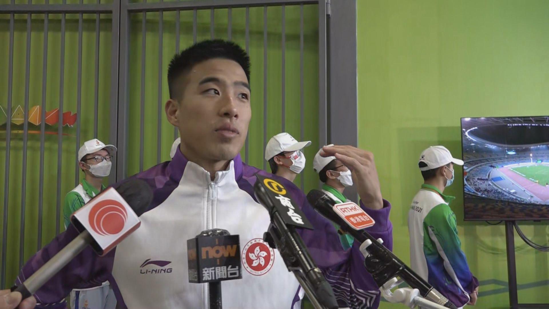 全運會男子跳遠 港隊陳銘泰排名第十二