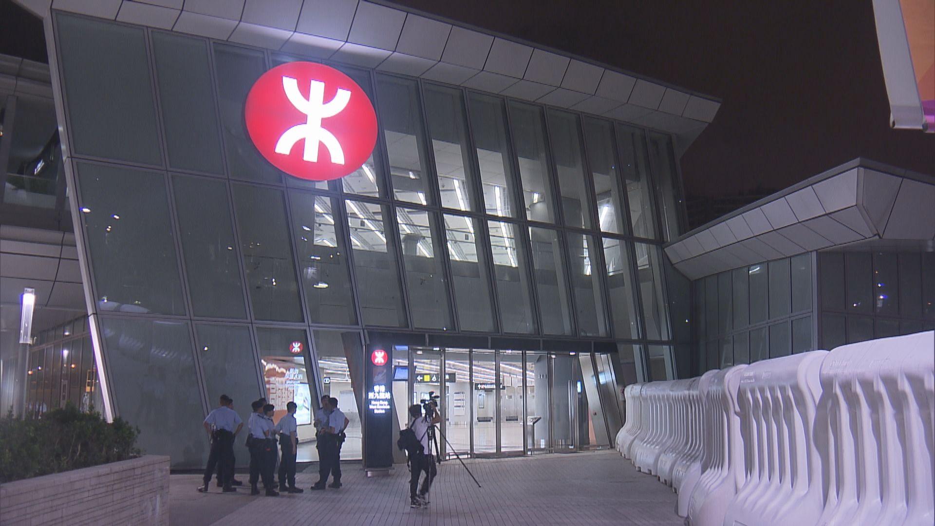 【九龍遊行】高鐵西九站禁止無購票人士進入