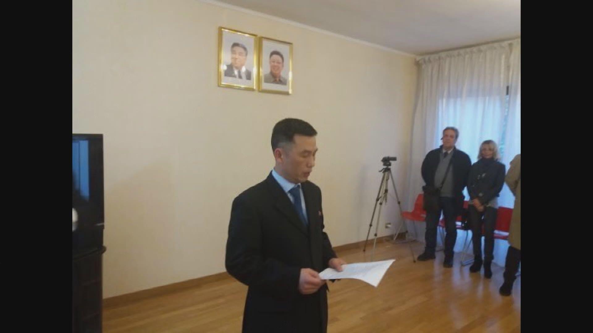 據報北韓前駐意大利大使館臨時代辦投奔南韓