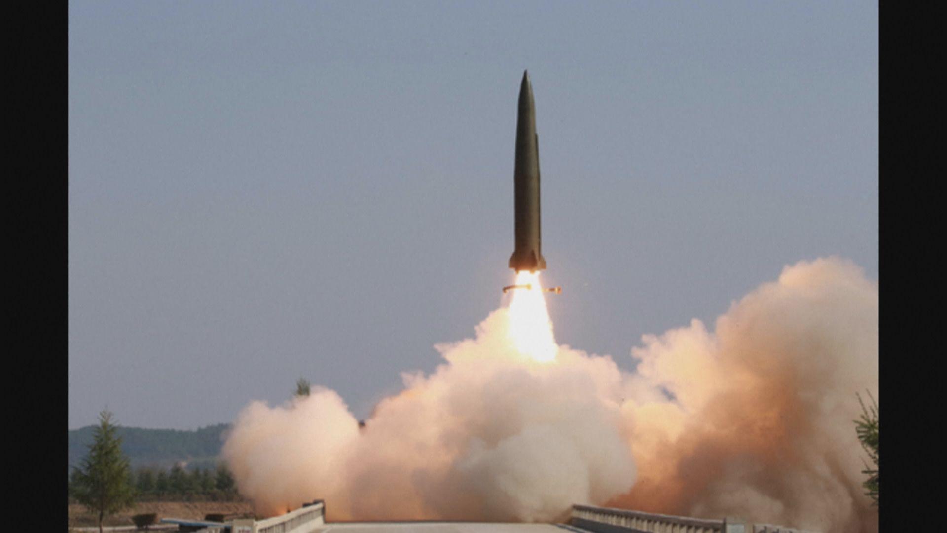 北韓向東面海域發射短程導彈