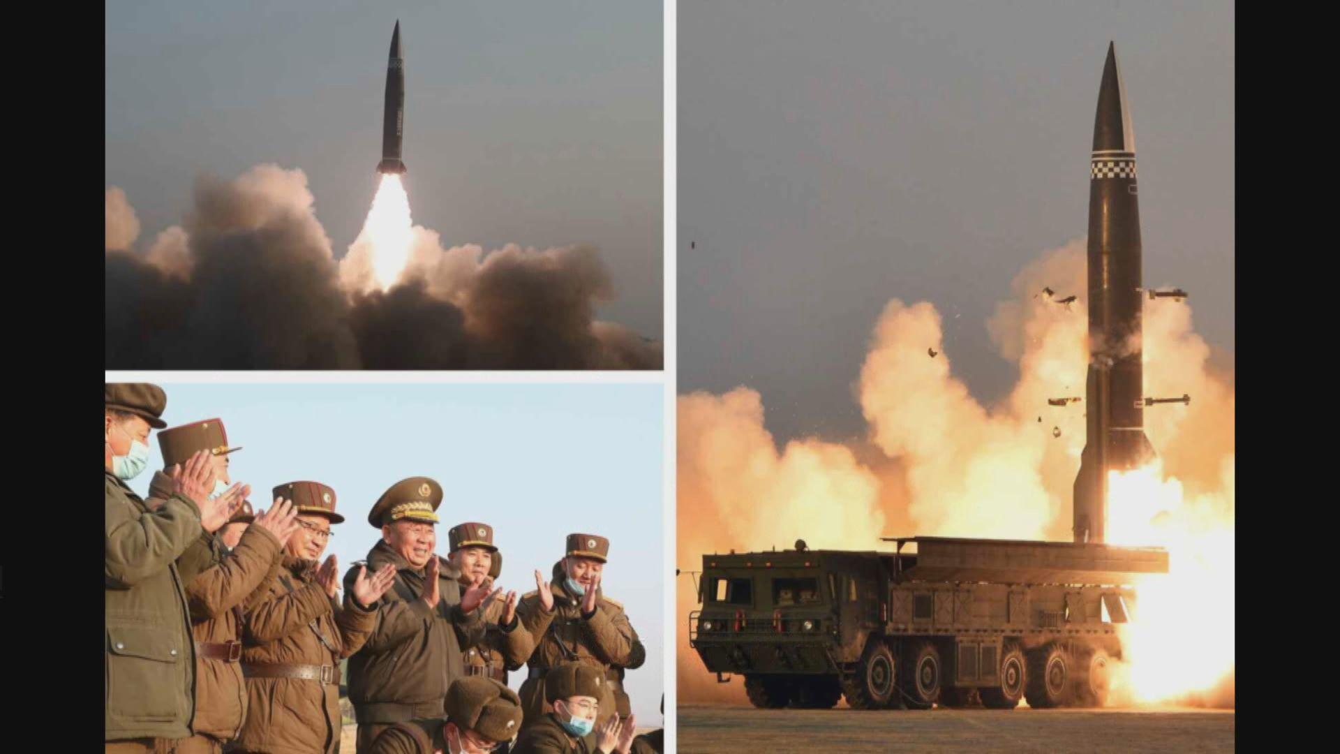 北韓指成功試射新研發戰術制導導彈