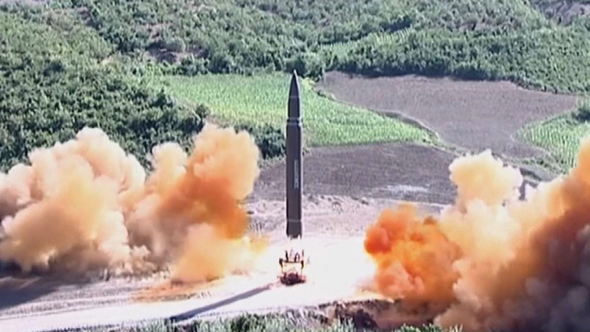 北韓早上再發試兩支導彈 射程約八百公里