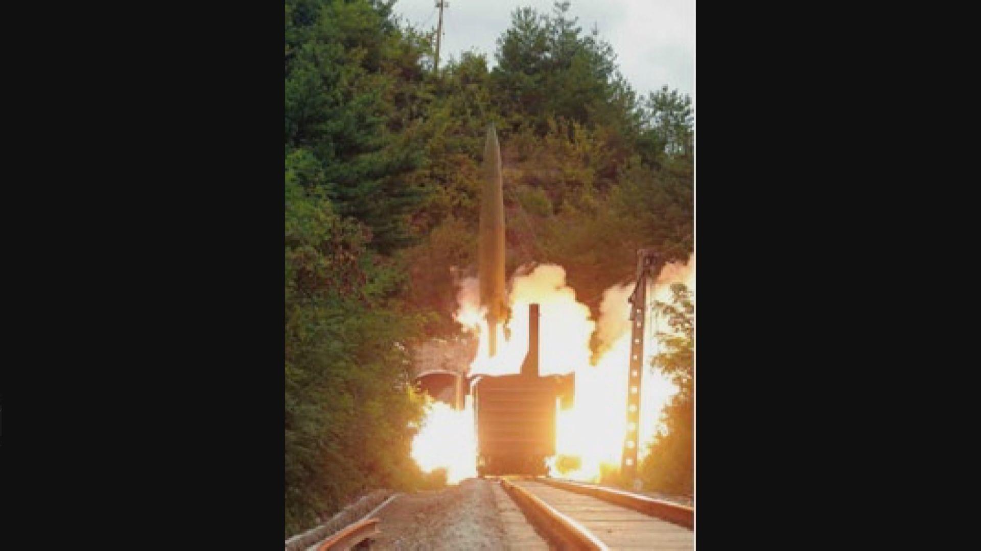 北韓指鐵路導彈部隊周三成功試射導彈