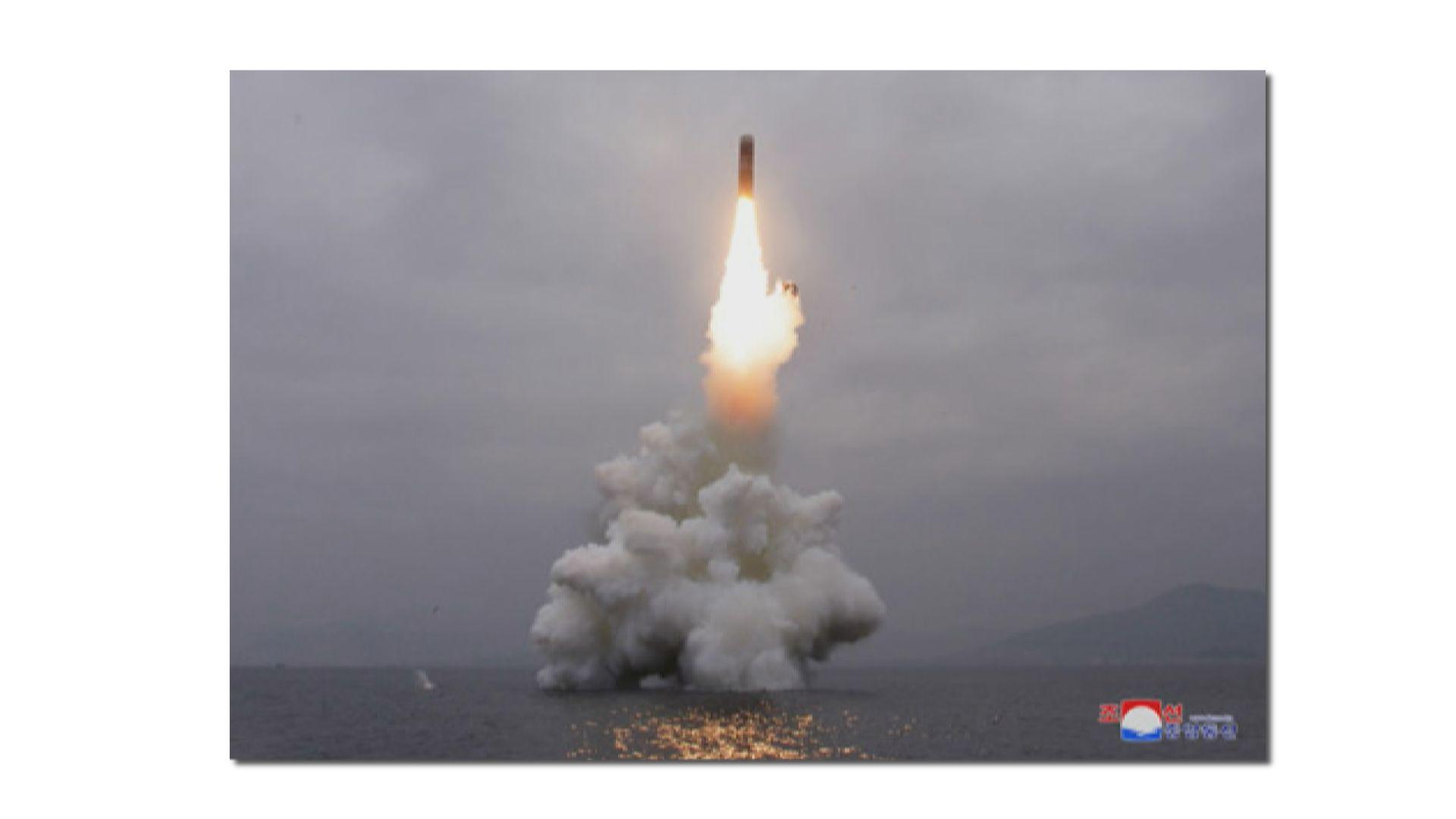 北韓再次試射導彈 南韓軍方推測是潛射彈道導彈