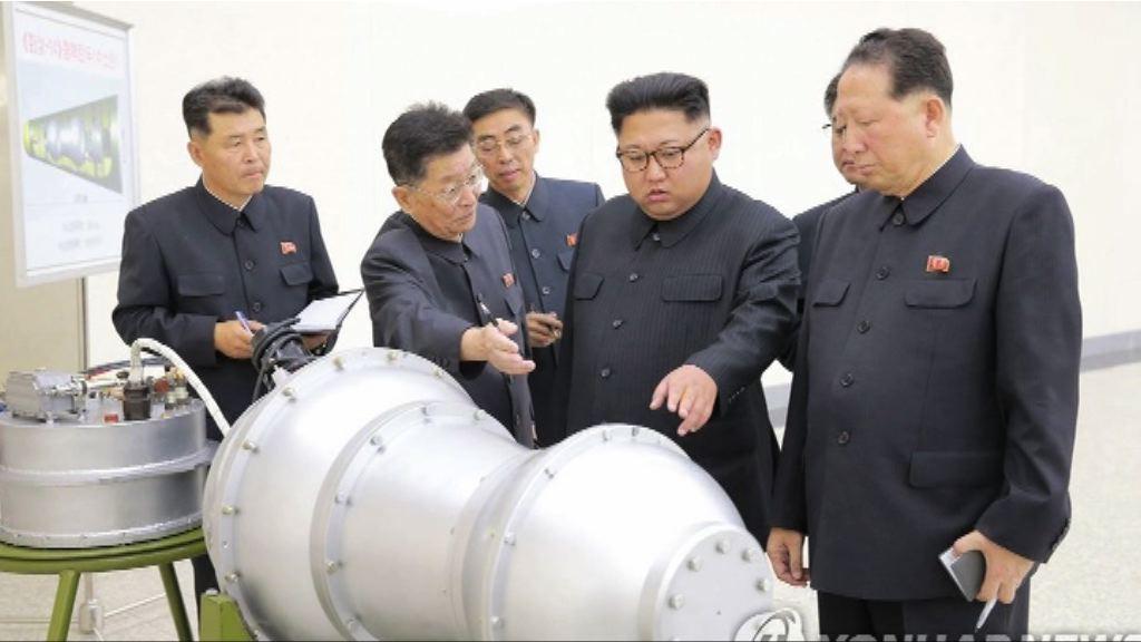 金正恩參觀新研製核武氫彈