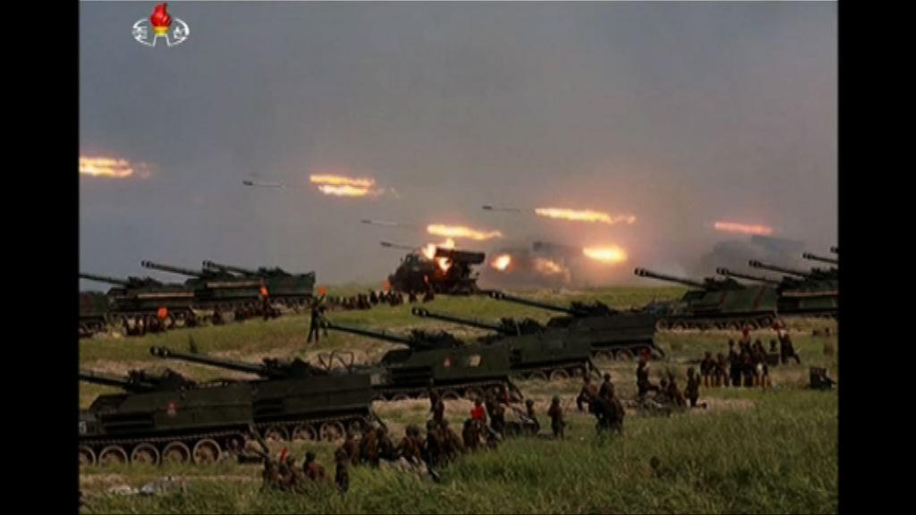 金正恩視察軍方模擬攻擊南韓島嶼