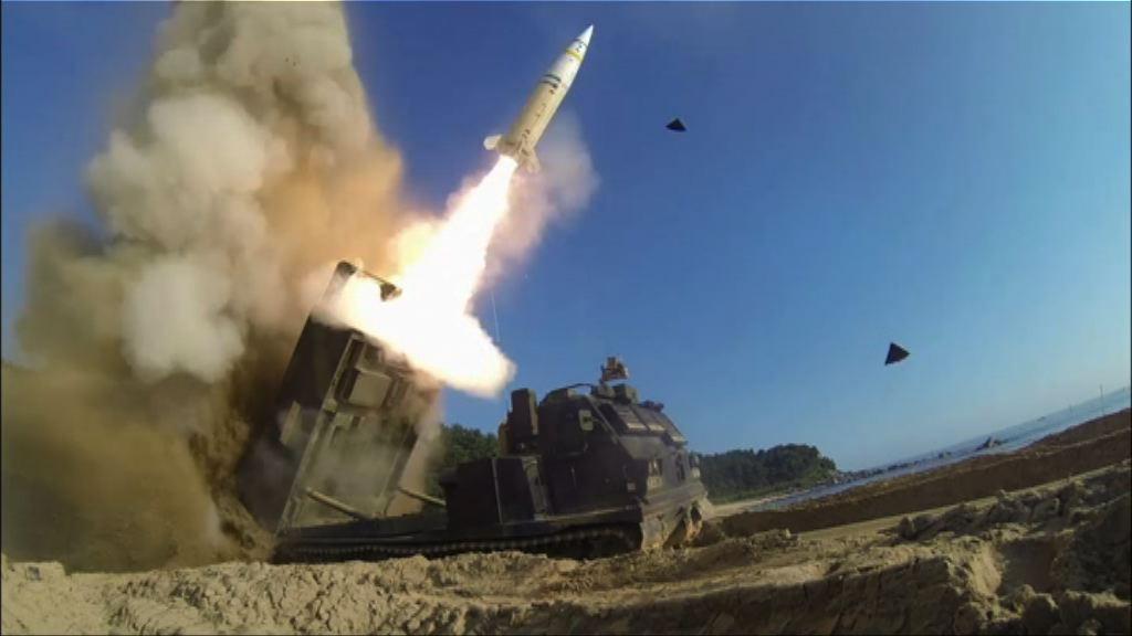 美韓聯合軍演回應北韓試射導彈