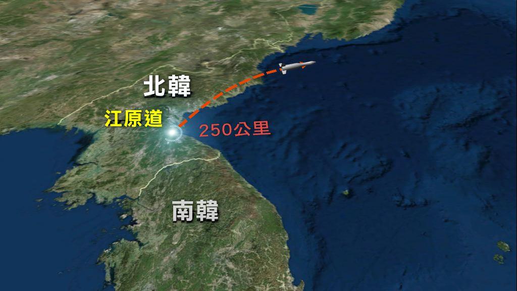 美軍指北韓試射短程彈道導彈
