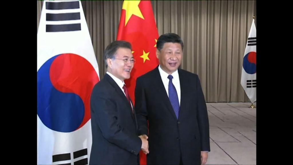 習近平晤文在寅講及北韓問題