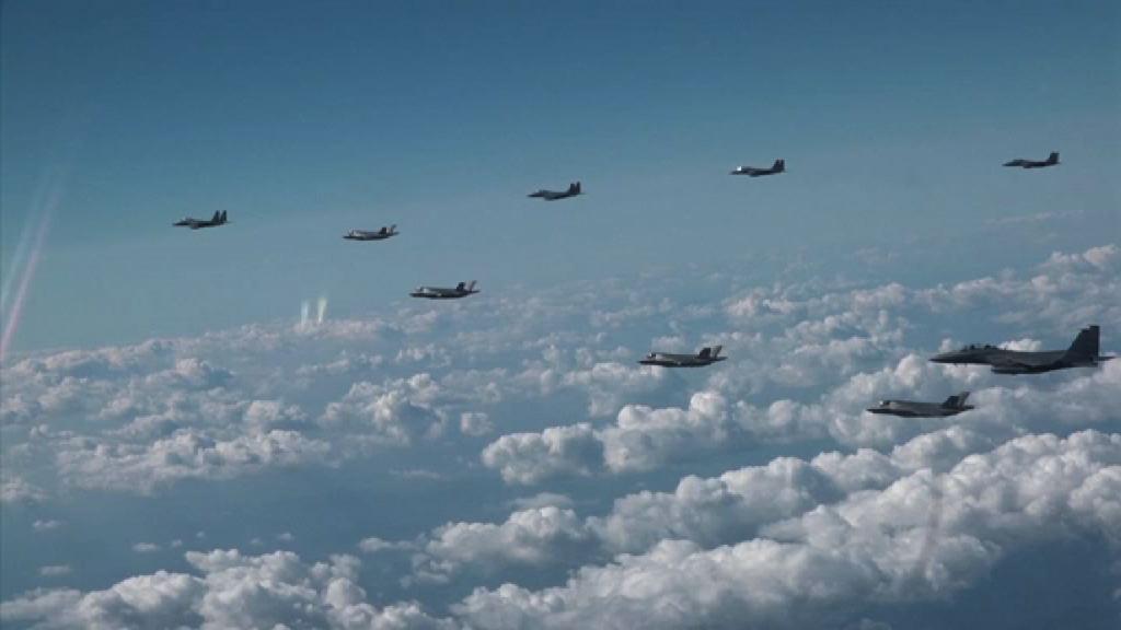 美韓戰機聯合飛行演習