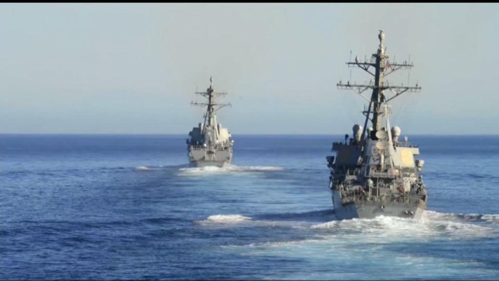 美軍航空母艦戰鬥群開赴西太平洋