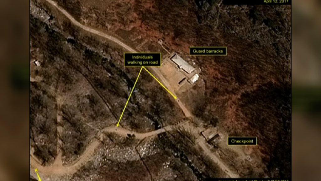 北韓測試前往豐溪里核試場火車