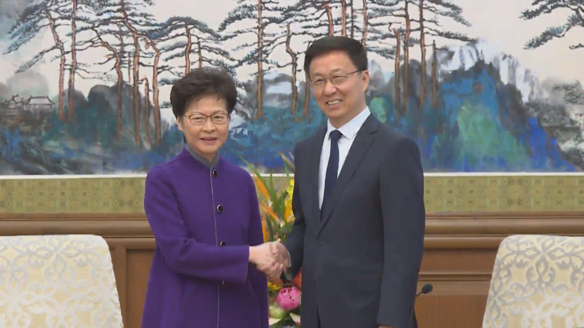 【足本】韓正會見林鄭 指香港社會當前最重要是止暴制亂