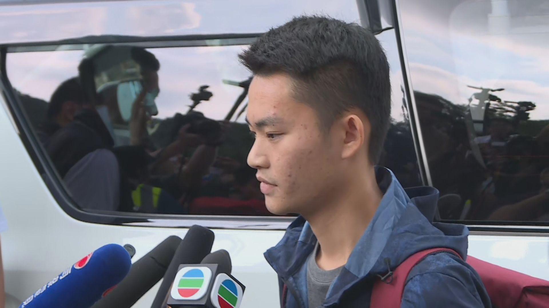 【刑滿出獄】陳同佳向死者家人道歉 稱願到台灣自首