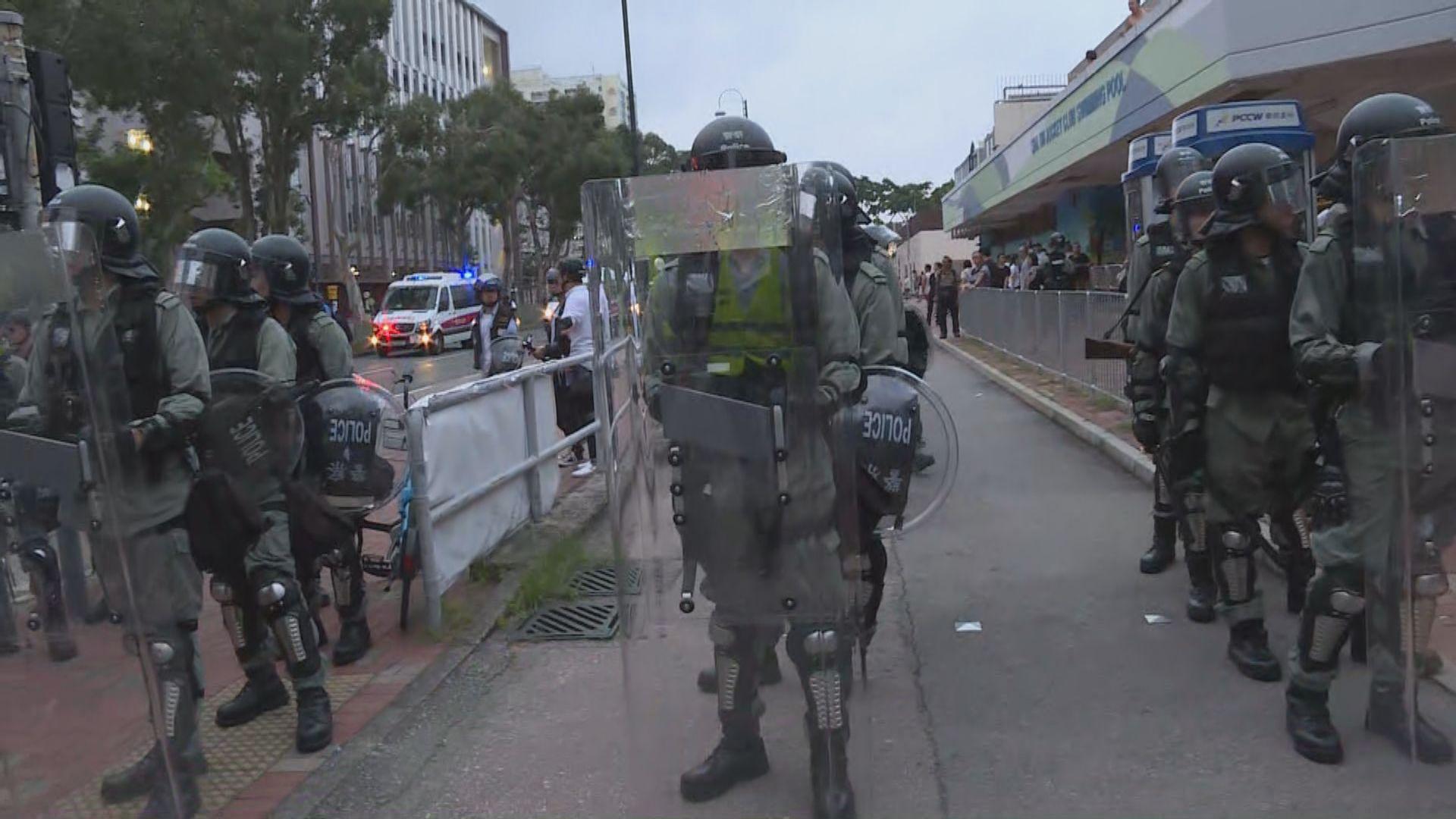 【現場報道‧沙田】不反對通知書限期屆滿 警方加強布防
