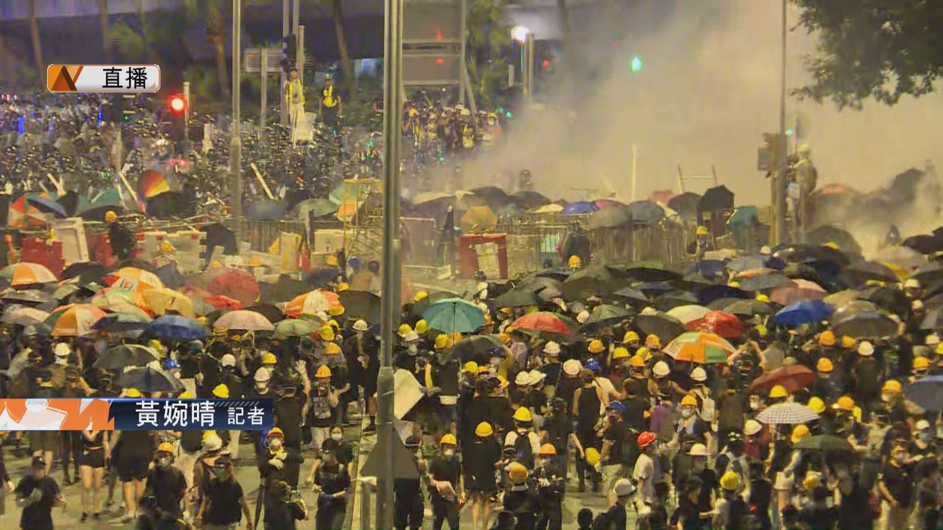 【現場報道】未見示威者與警方有明顯衝突