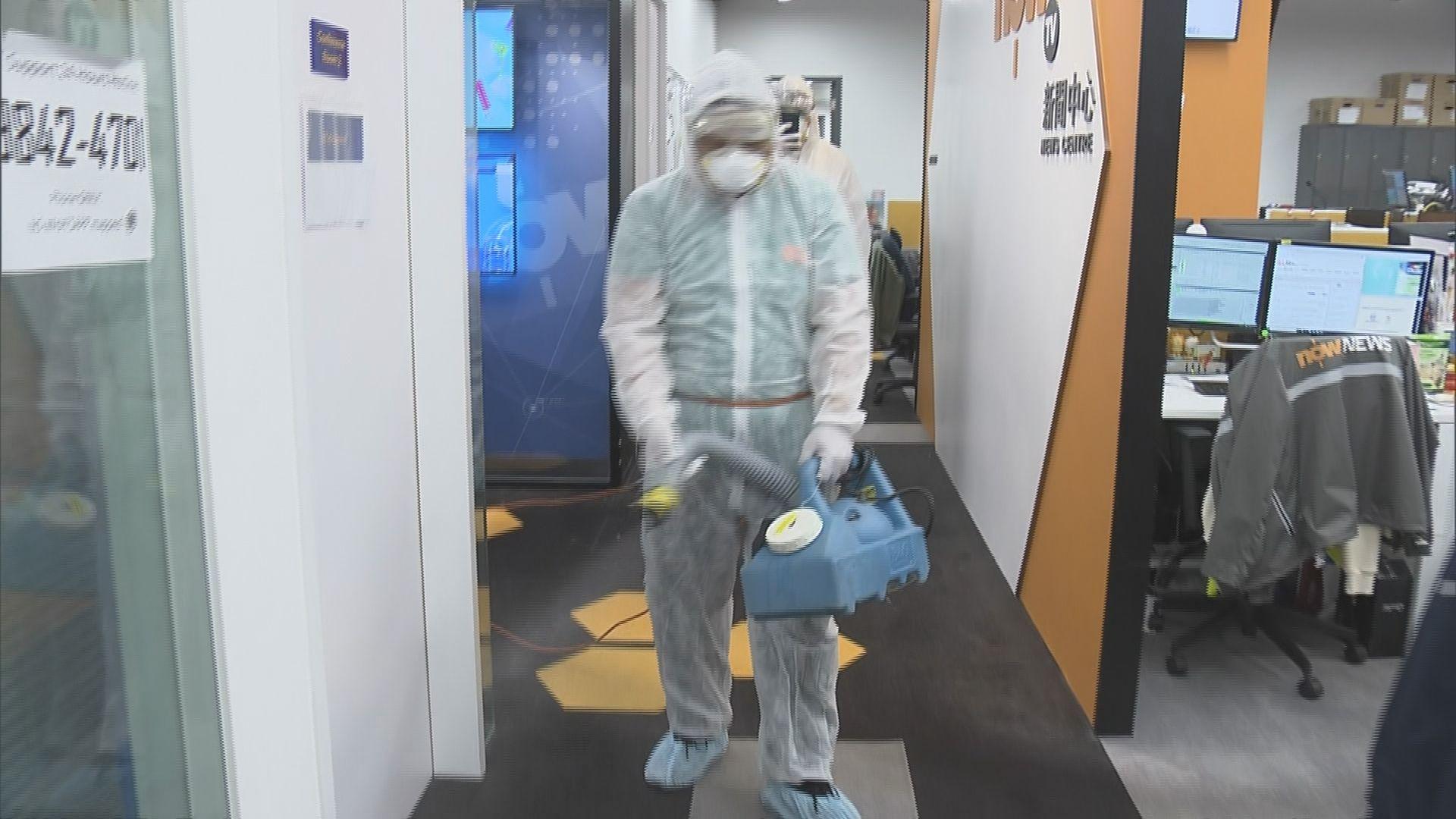本台一名剪接師確診 新聞部辦公室徹底消毒