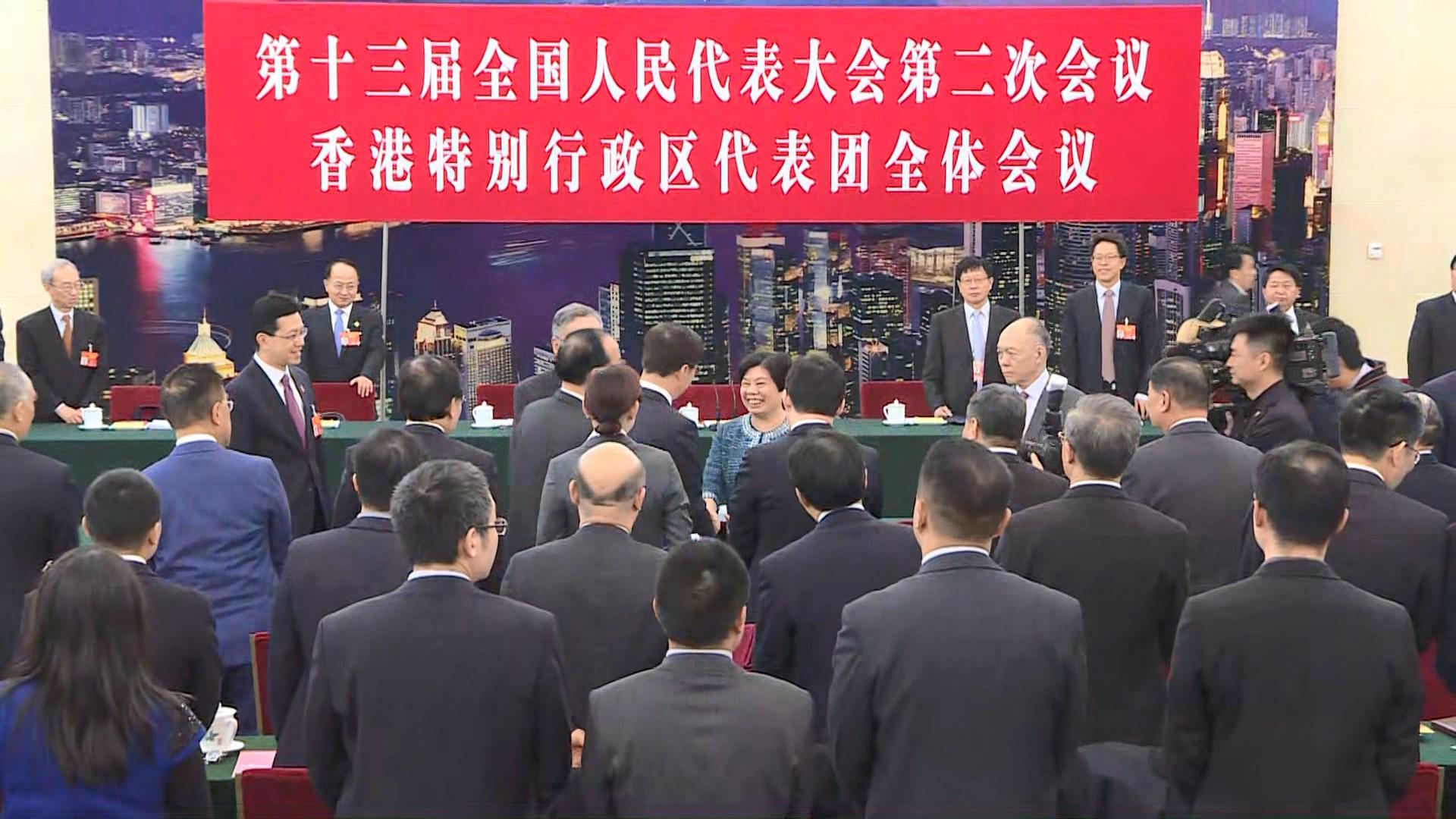 人大代表引述韓正:中央國函是表態對港獨零容忍