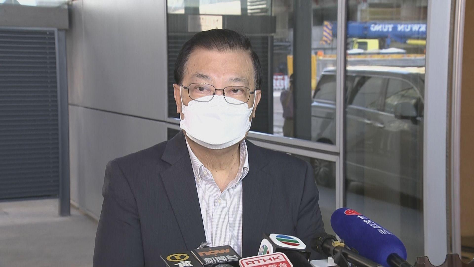 譚耀宗:香港很多人期望草案可盡快通過