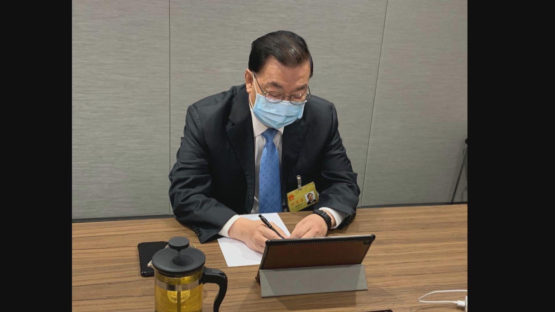 人大常委會商推遲全國人大會議 譚耀宗視像開會