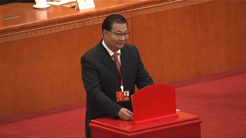 譚耀宗當選人大常委 稱23條立法是憲制責任