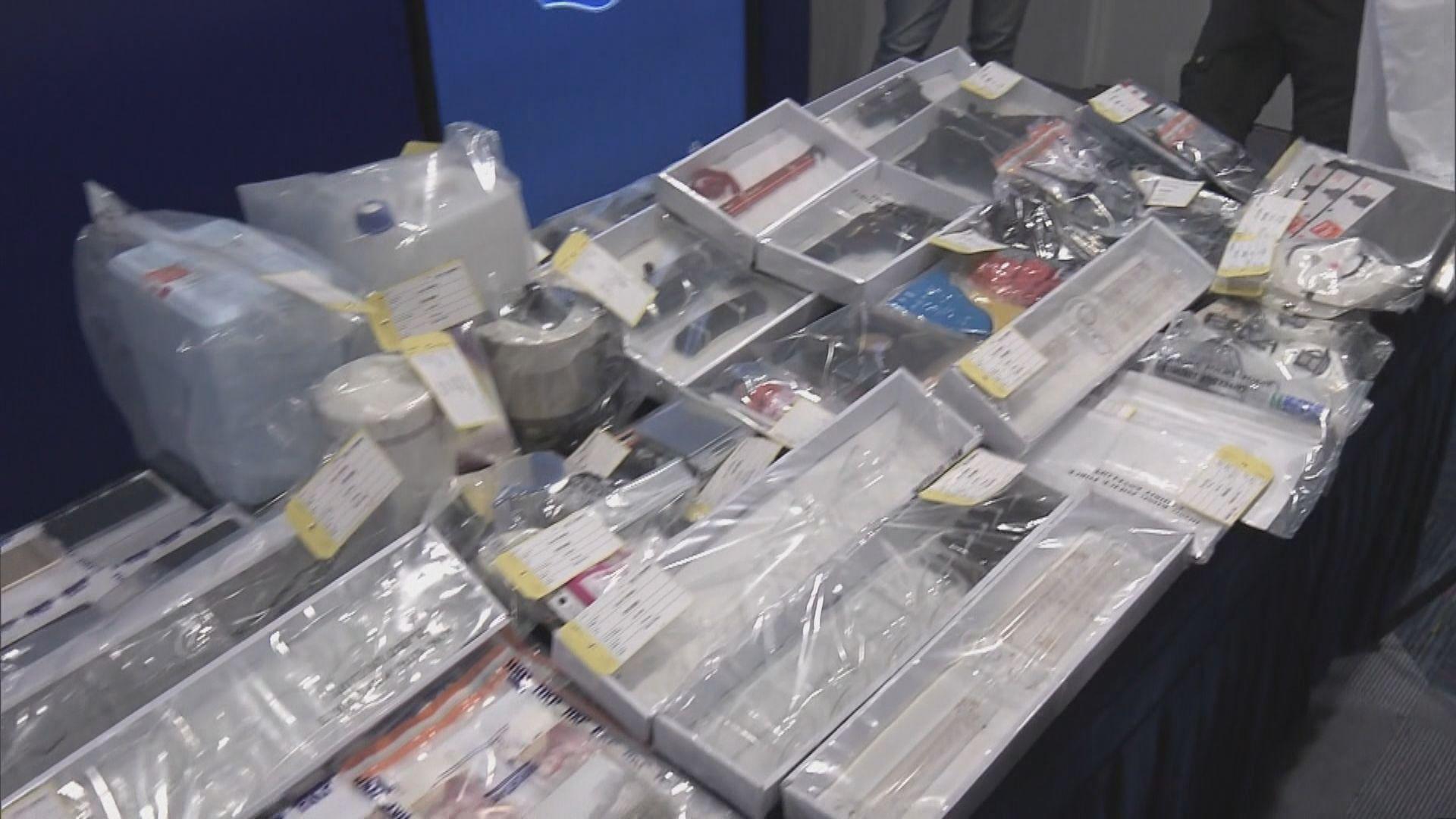 警方拘九人涉港獨組織企圖策劃炸彈襲擊