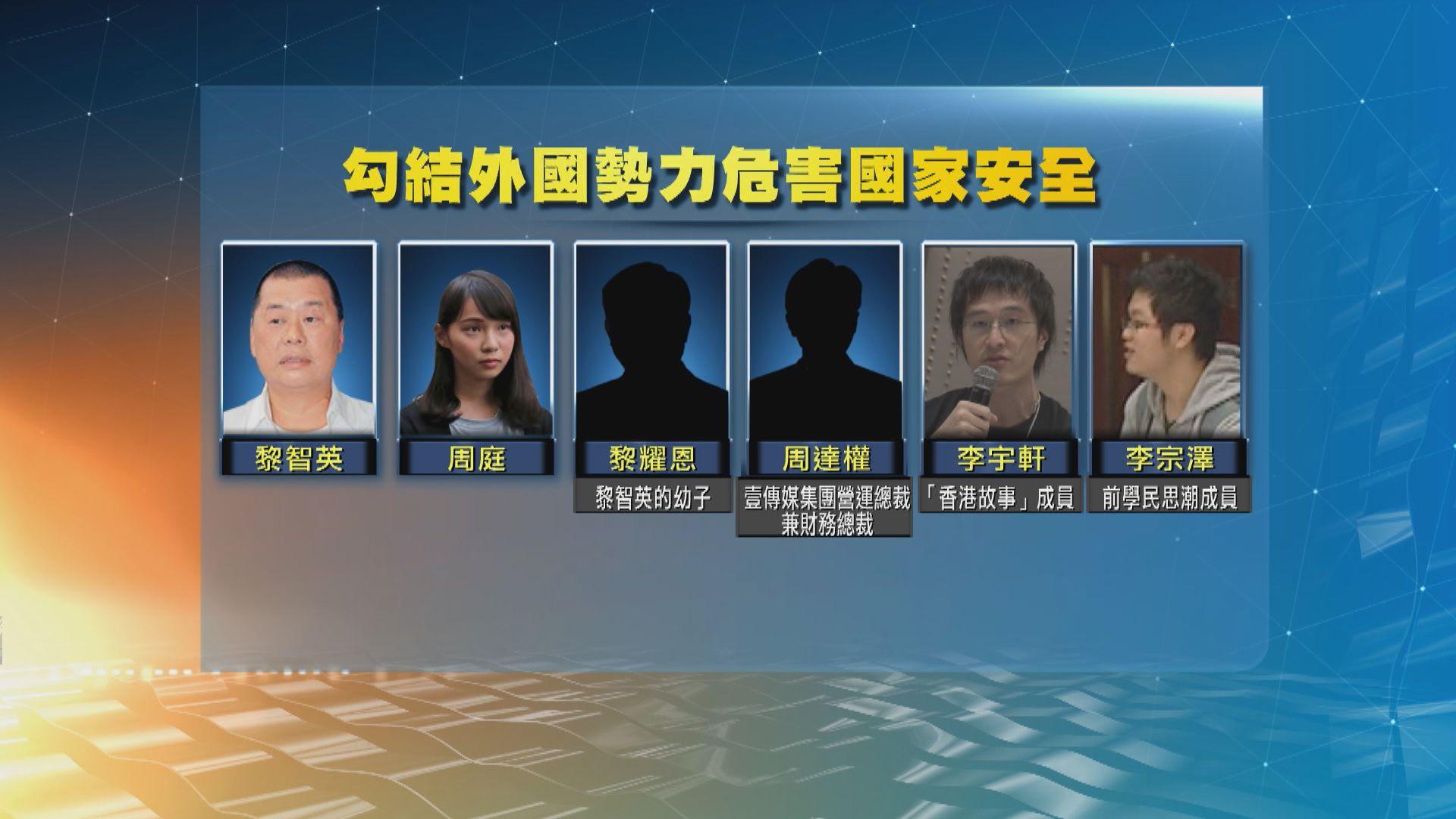 警拘黎智英、周庭等六人 涉運作及資助組織促外國制裁