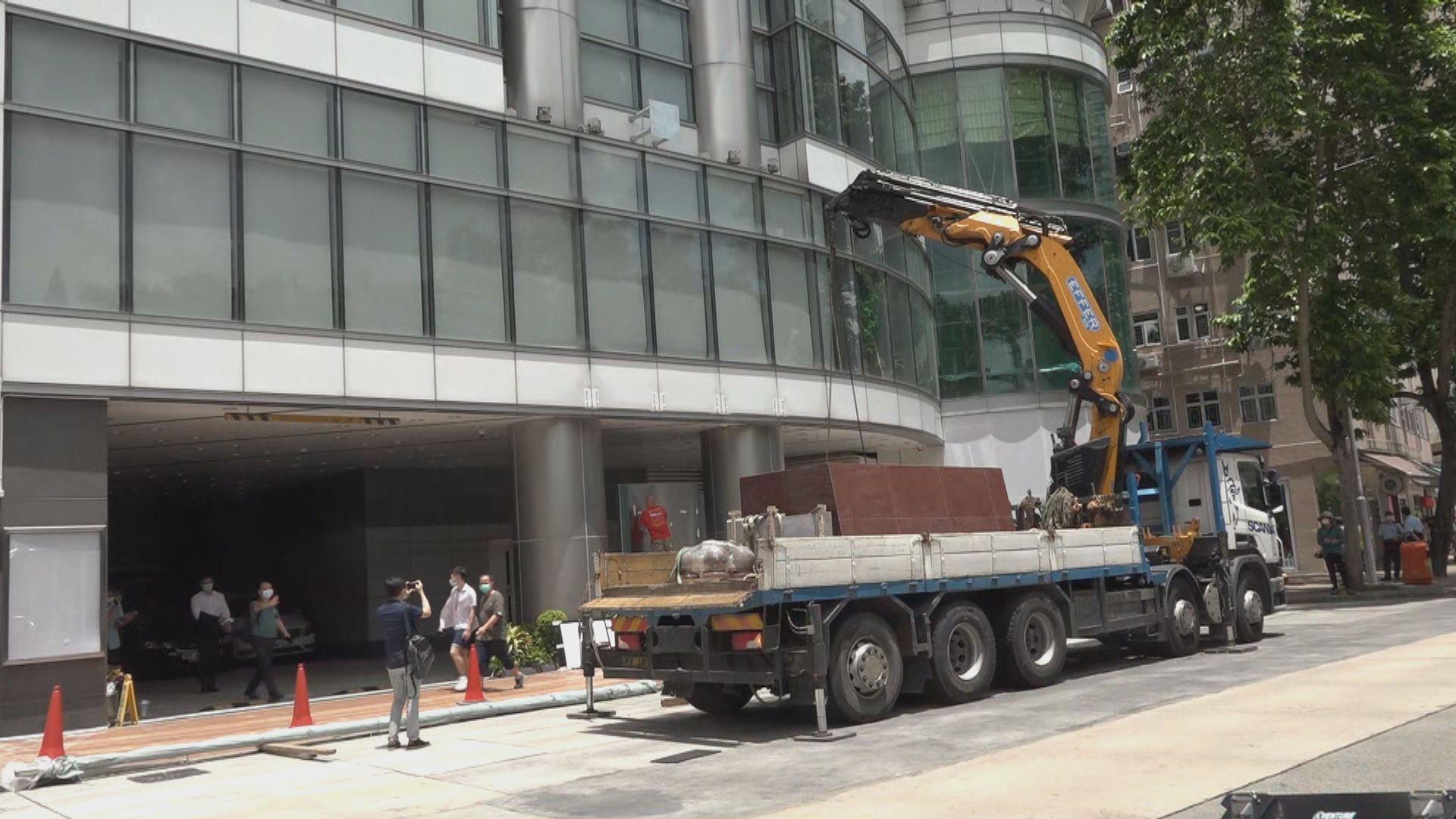 消息:銅鑼灣維景酒店成國安公署臨時基地