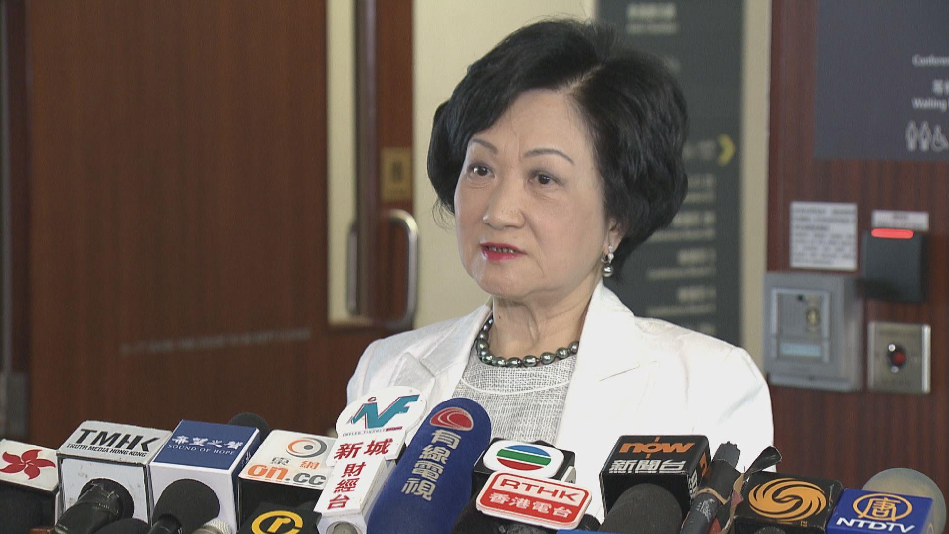 葉劉淑儀:中央決策機關指派國安事務顧問是無可厚非