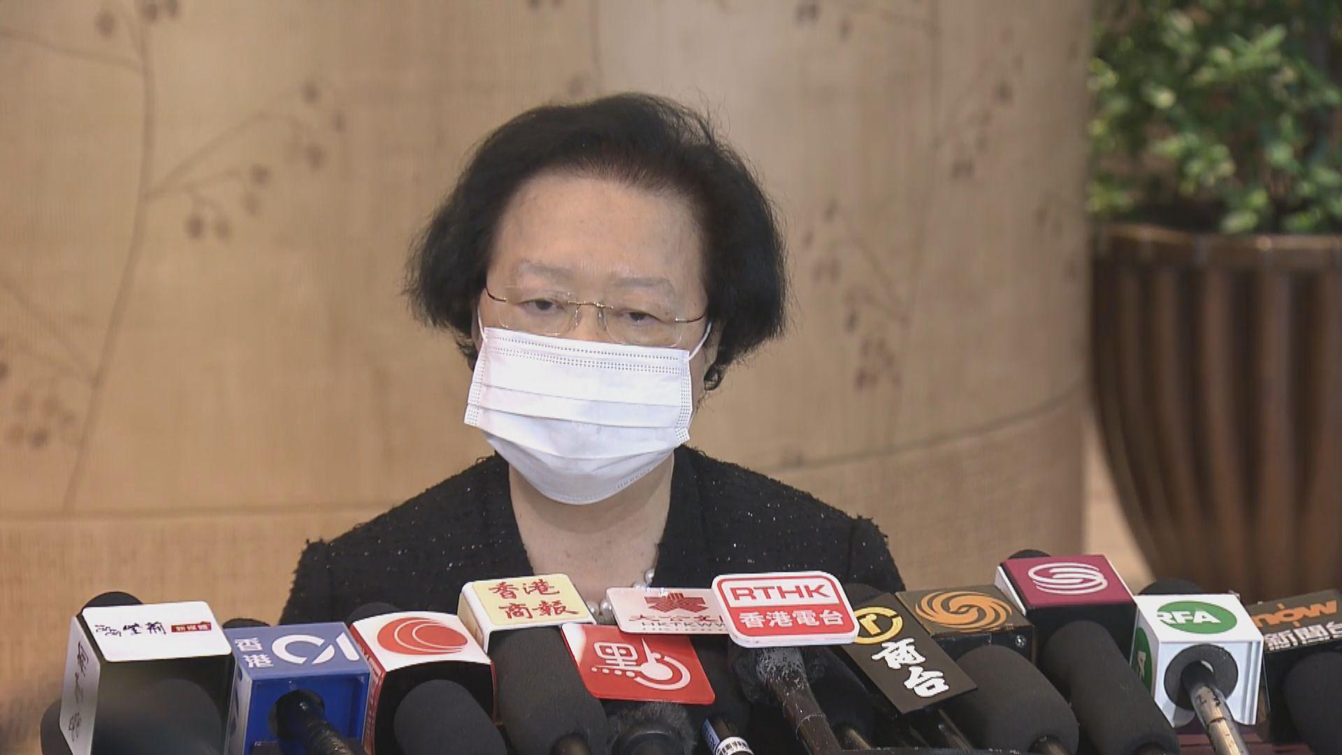 譚惠珠認為夏寶龍沒有對特區管治能力感到不滿