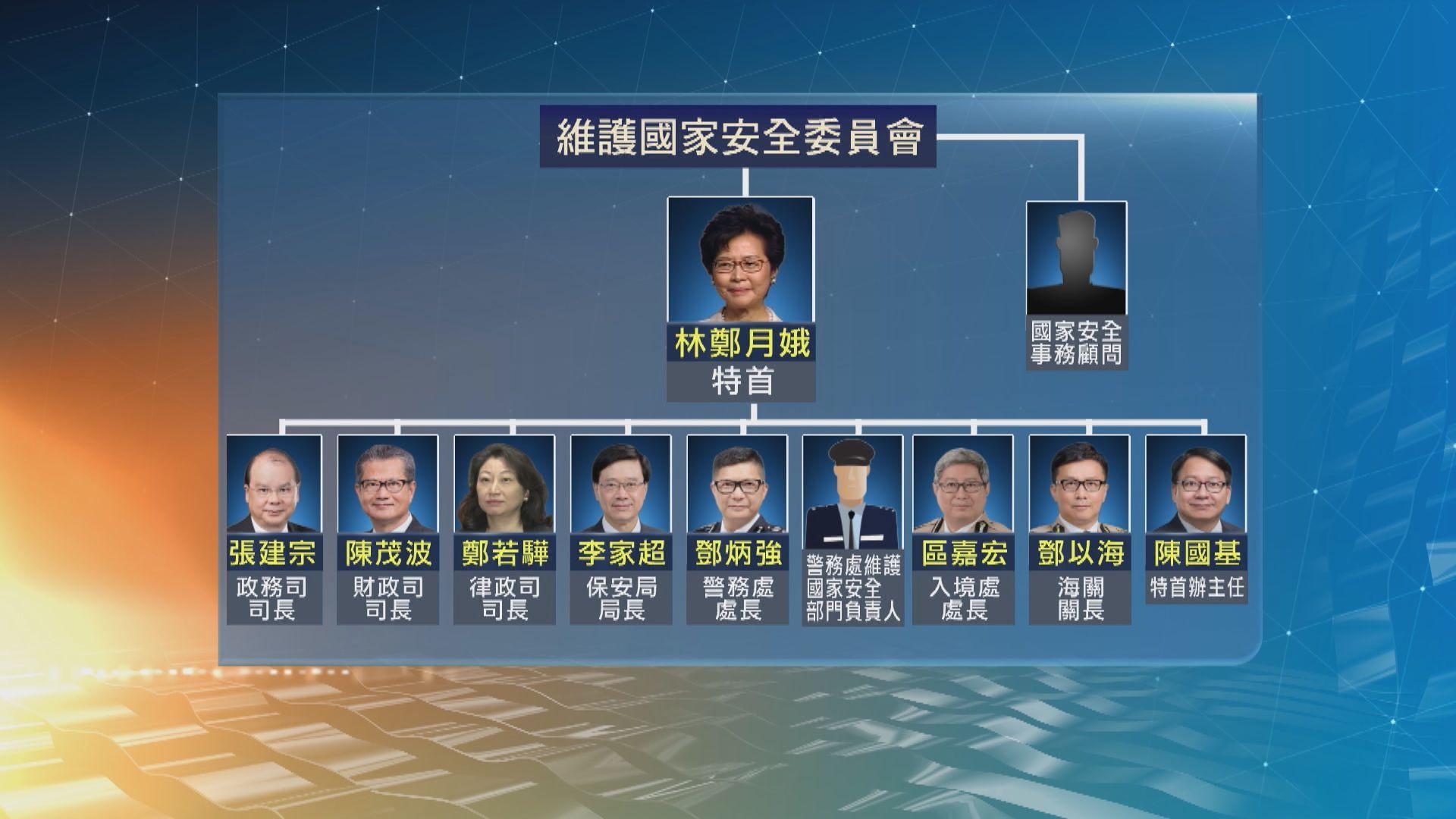 香港設立維護國家安全委員會 行政長官任主席