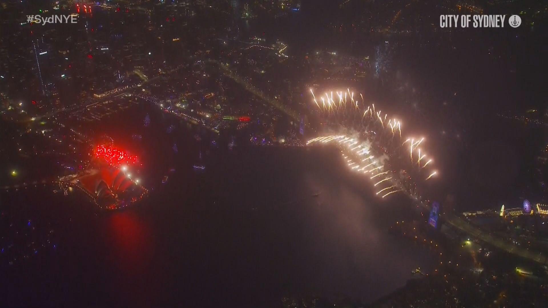 澳洲悉尼12分鐘煙花匯演迎接2020年