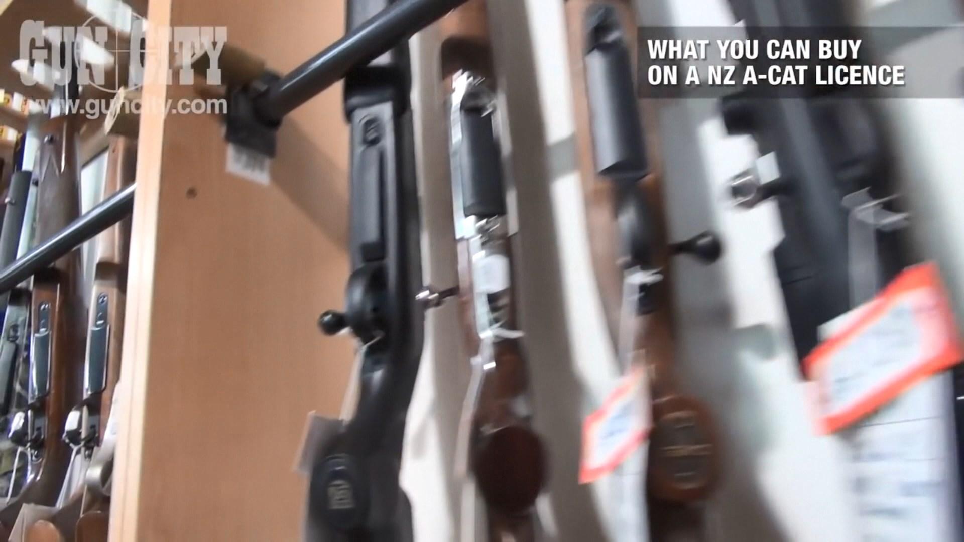 新西蘭持槍牌者毋須登記可擁有大部分槍械