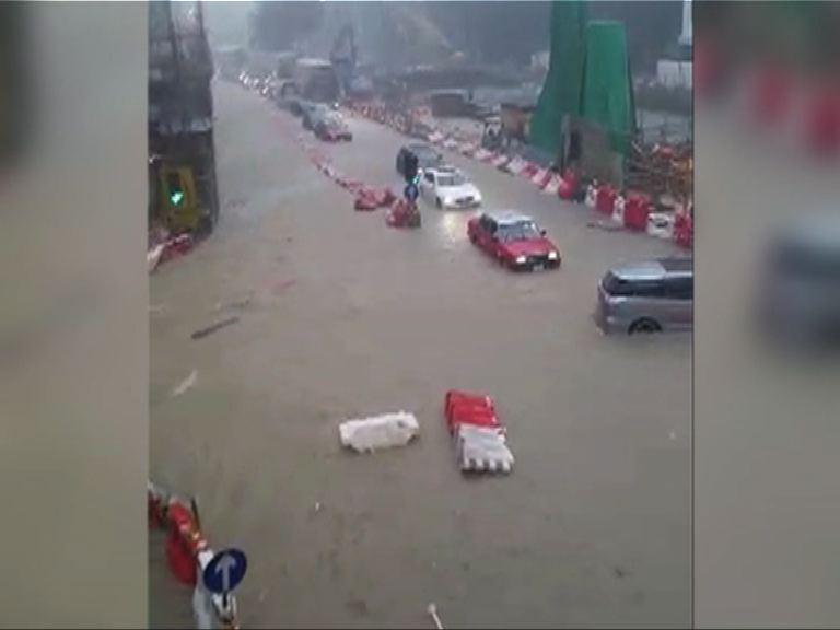 黃雨期間黃大仙彩虹道嚴重水浸